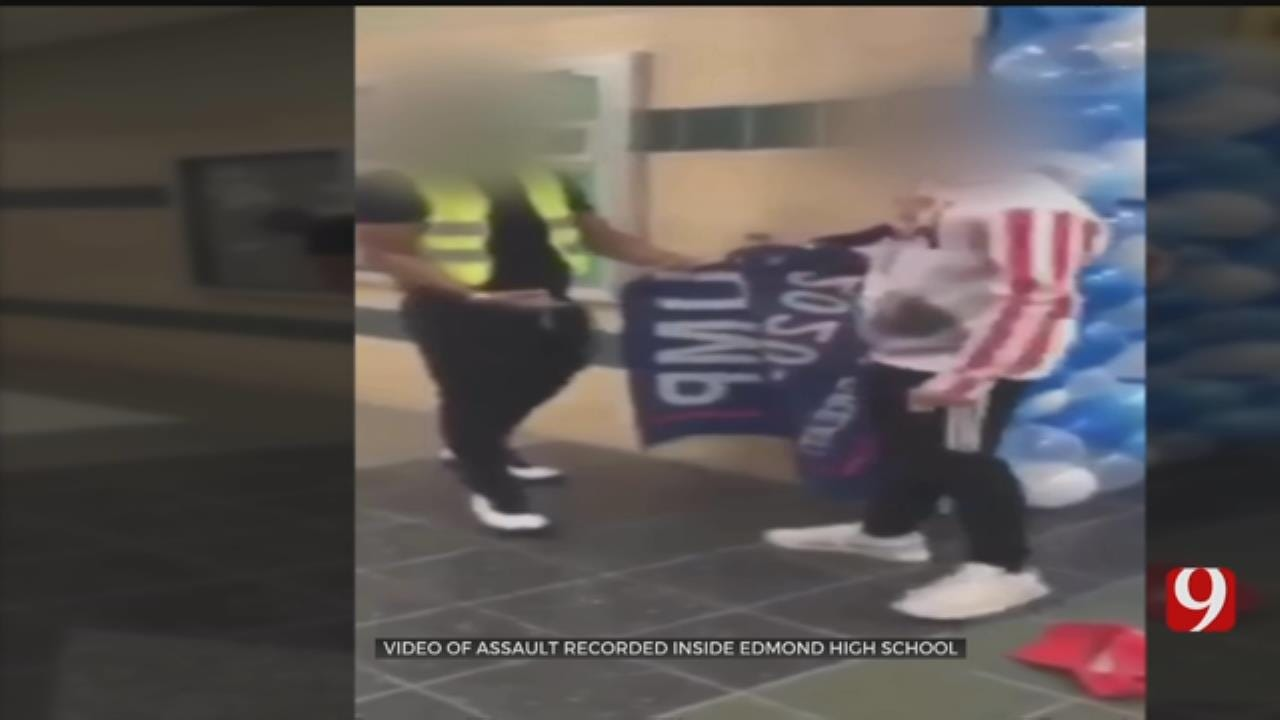 Edmond HS Students Clash Over Trump Hat And Flag; Video Of Assault Goes Viral