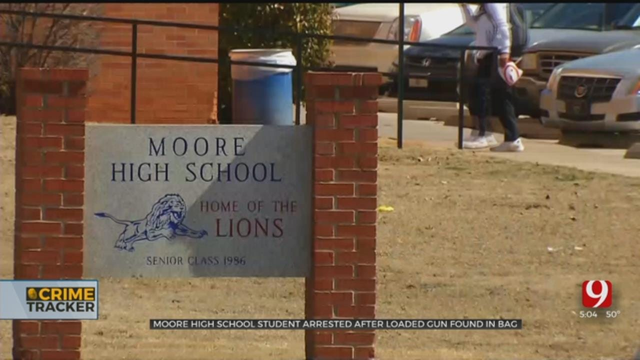 Moore Student Arrested, Accused Of Bringing Loaded Gun To School