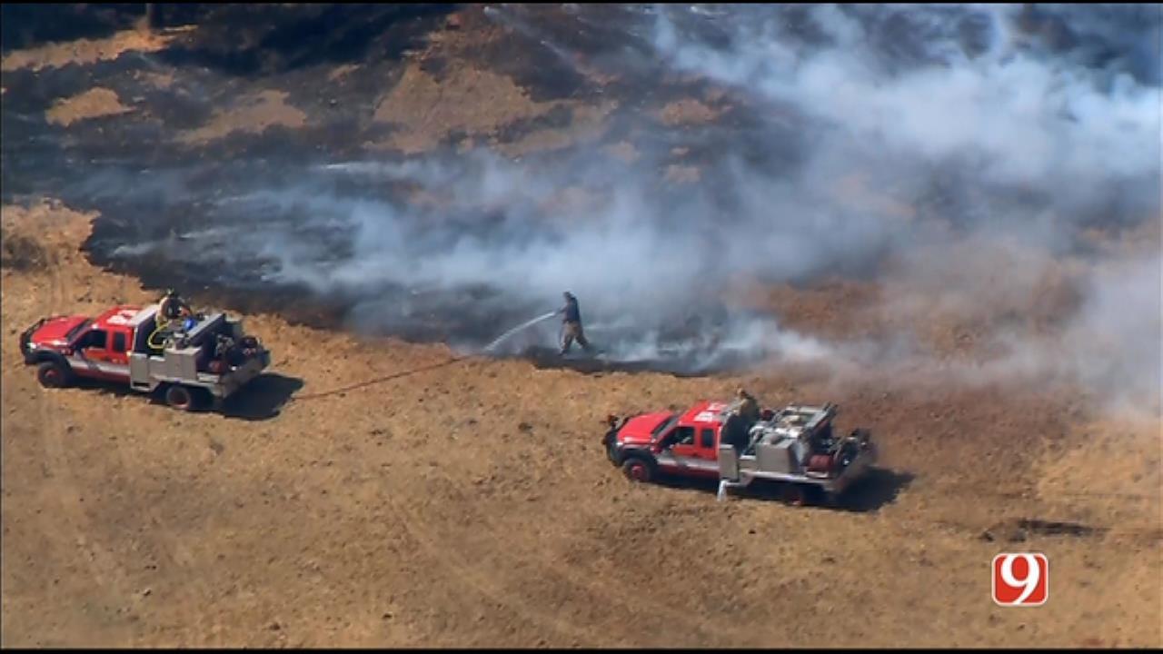 Wildfire Reported Near SE OKC