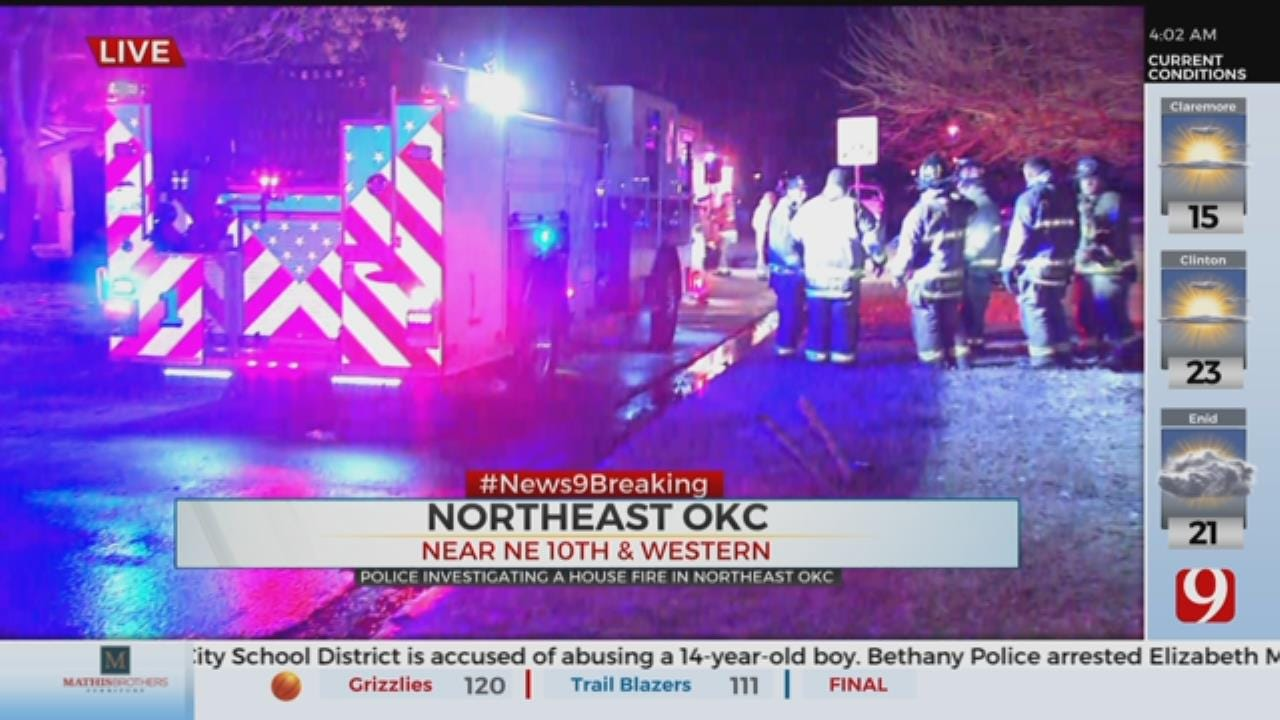 Firefighters Extinguish Vacant House Fire In NW Oklahoma City