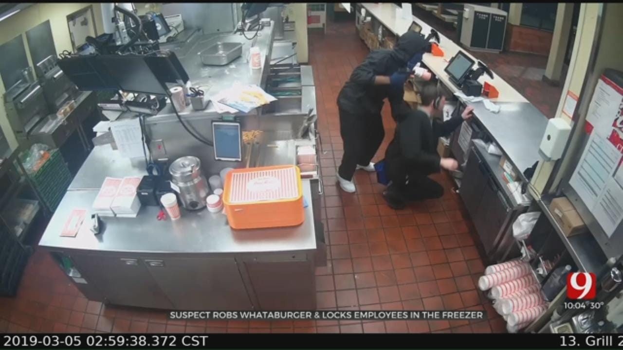 Suspect Robs OKC Whataburger, Locks Employees In Freezer