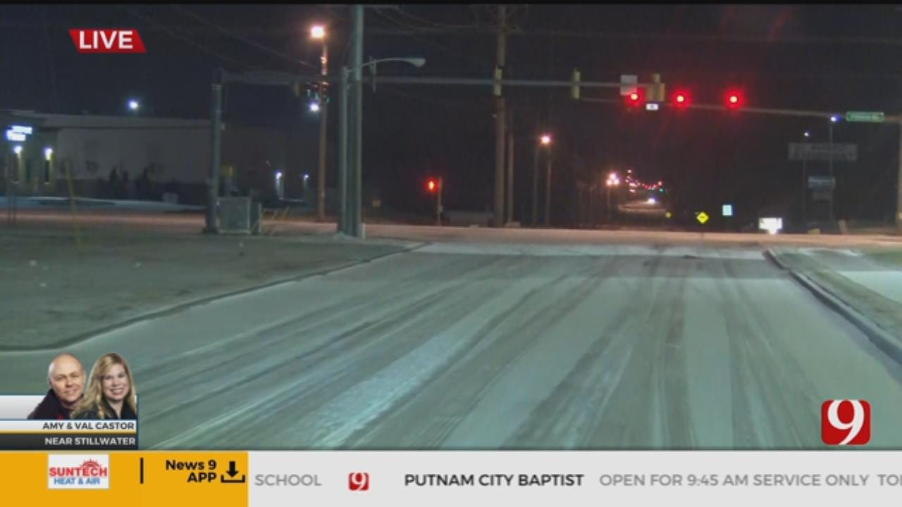 Val Castor Reports On Road Conditions In Stillwater