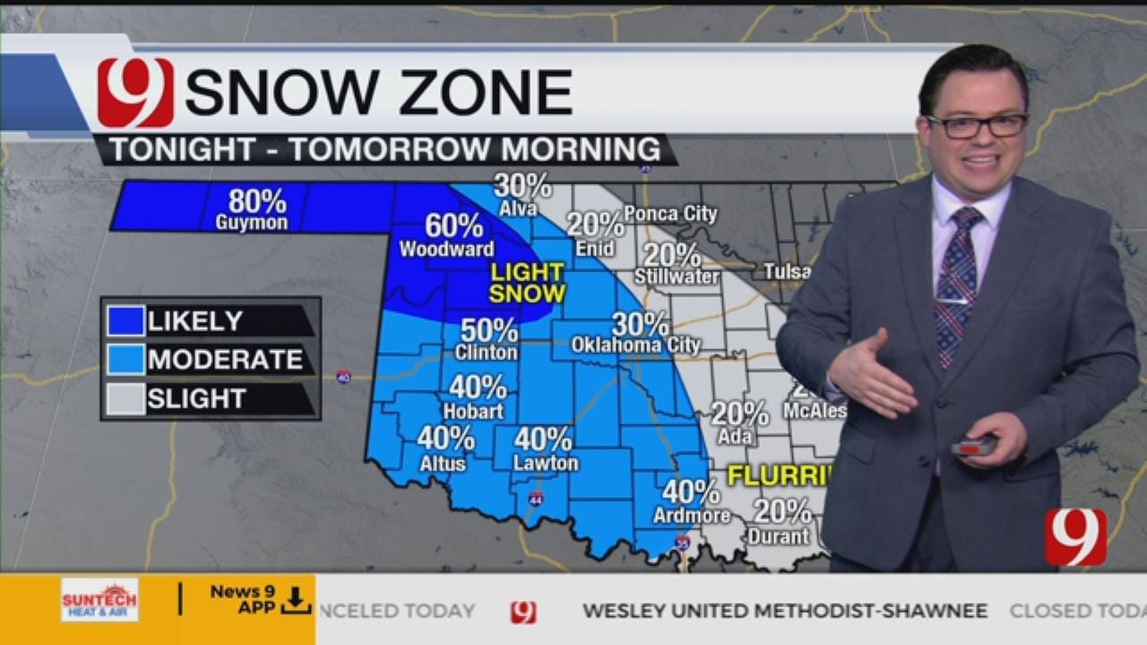 Matt's 8 A.M. Sunday Winter Weather Forecast