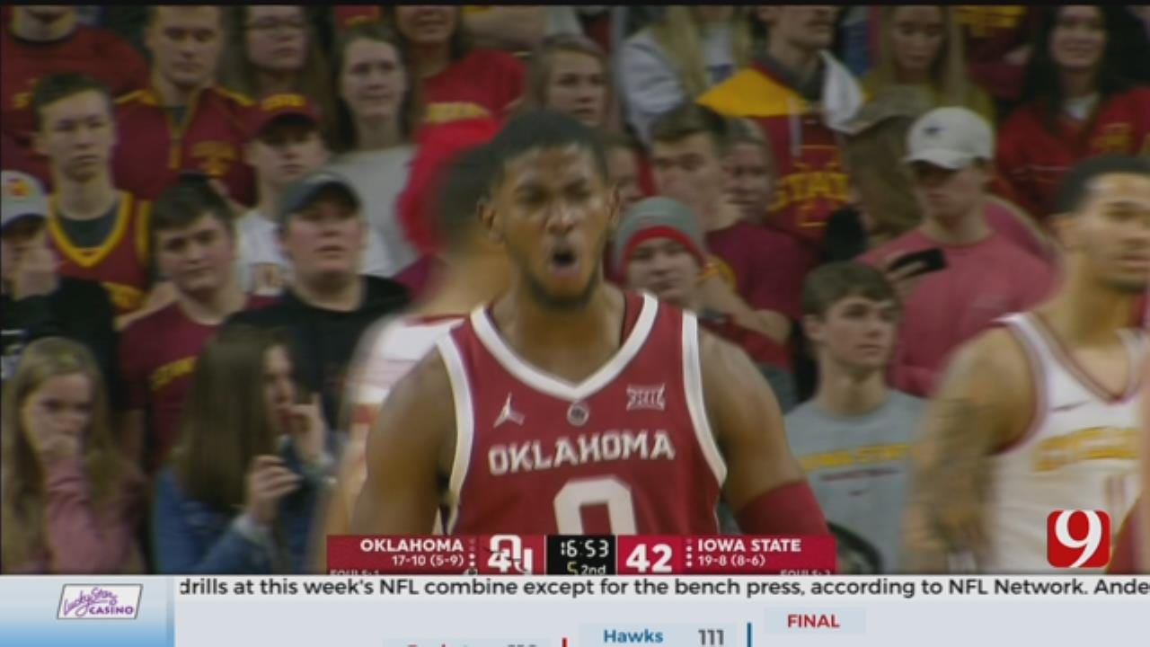 OU Can't Withstand Cyclones Second Half Rally