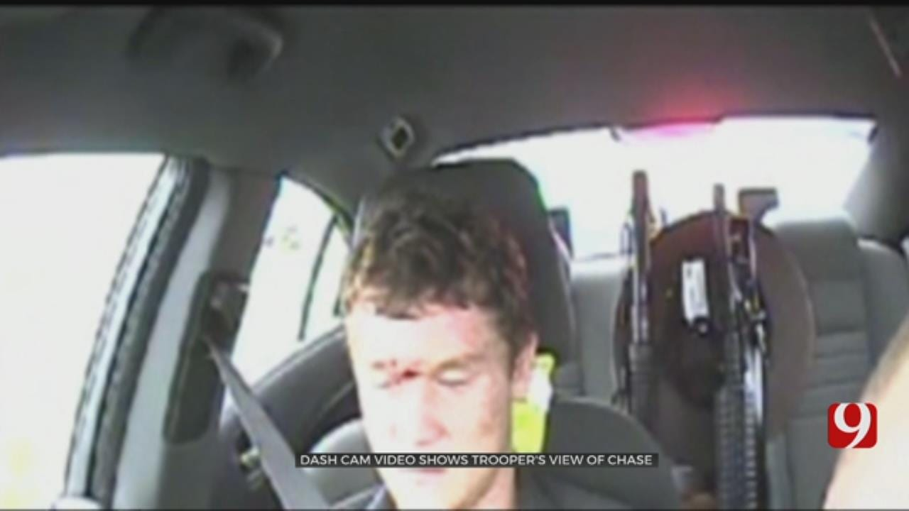 Dashcam Video Shows Trooper's View In Dangerous Chase, Crash Involving Ohio Murder Suspects