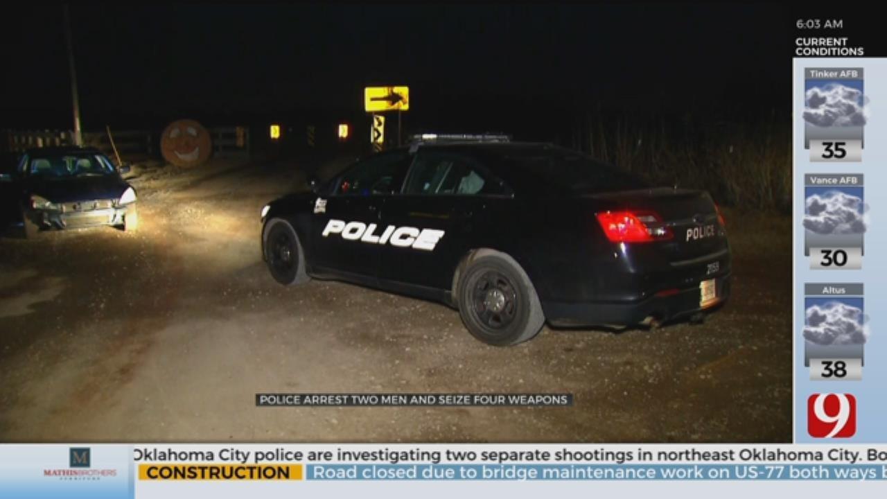 Police Arrest 2 Men, Seize 4 Weapons Near Yukon