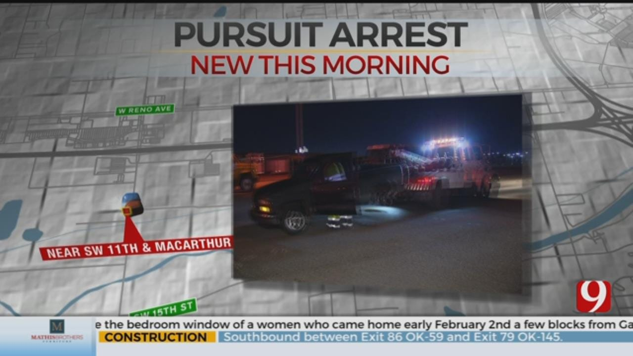 2 Arrested Following Overnight SW OKC Chase