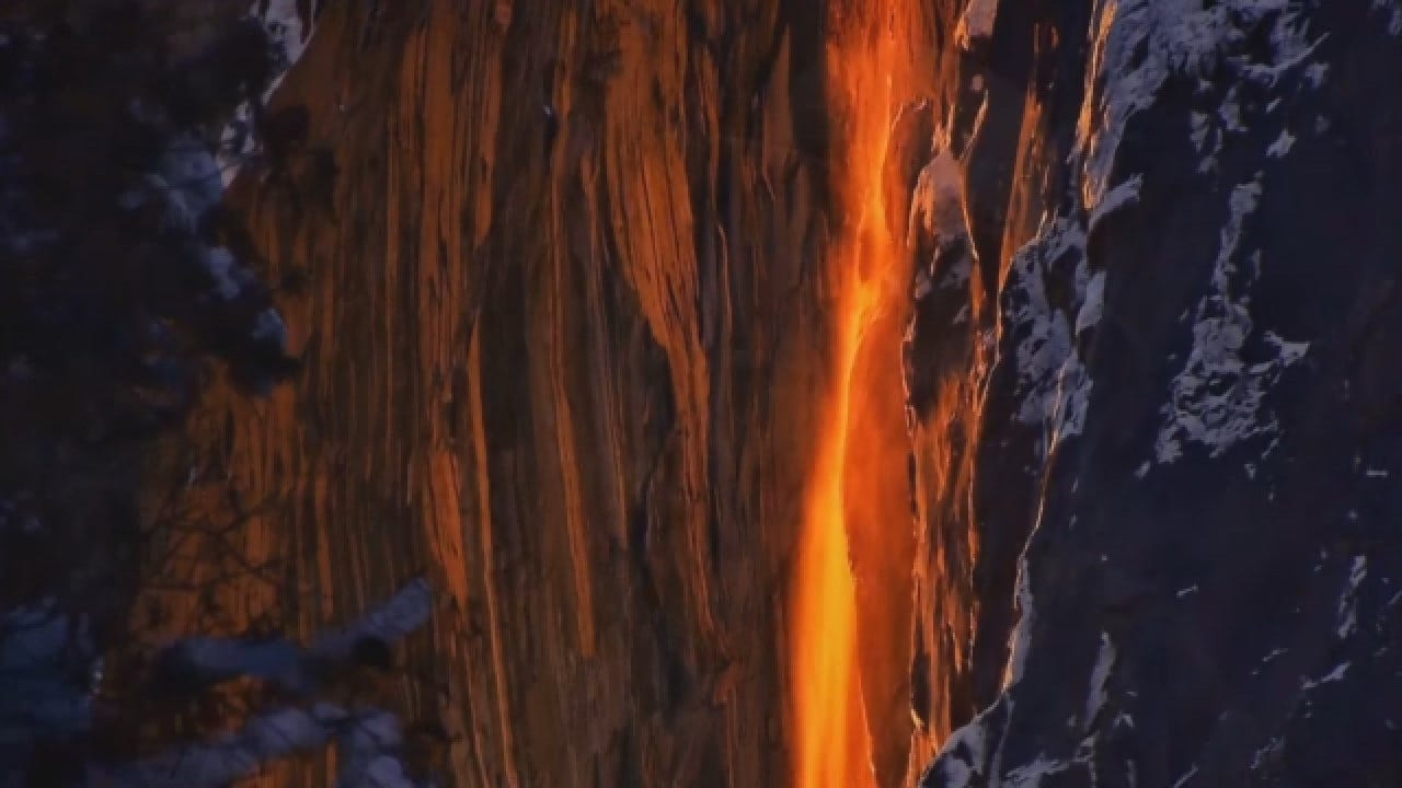 Rare 'Firefall' Phenomenon At Yosemite National Park Is Back