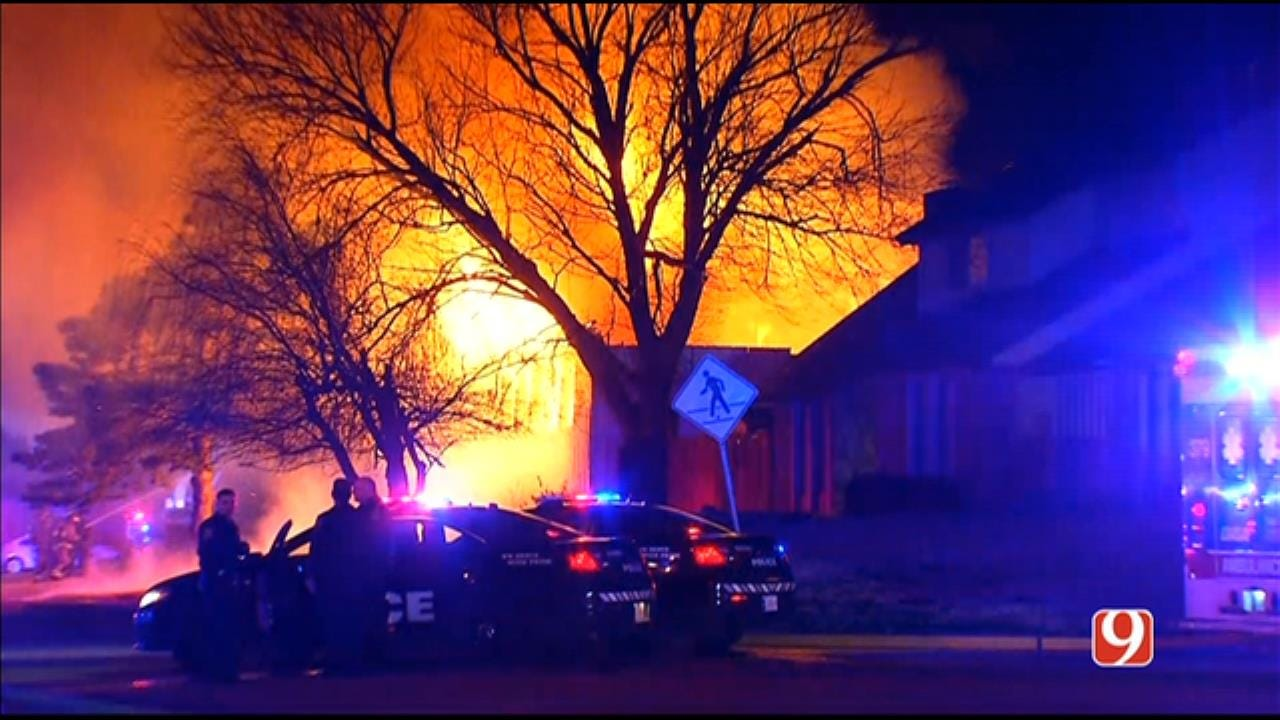 RAW VIDEO: Firefighters Battle NW OKC House Fire