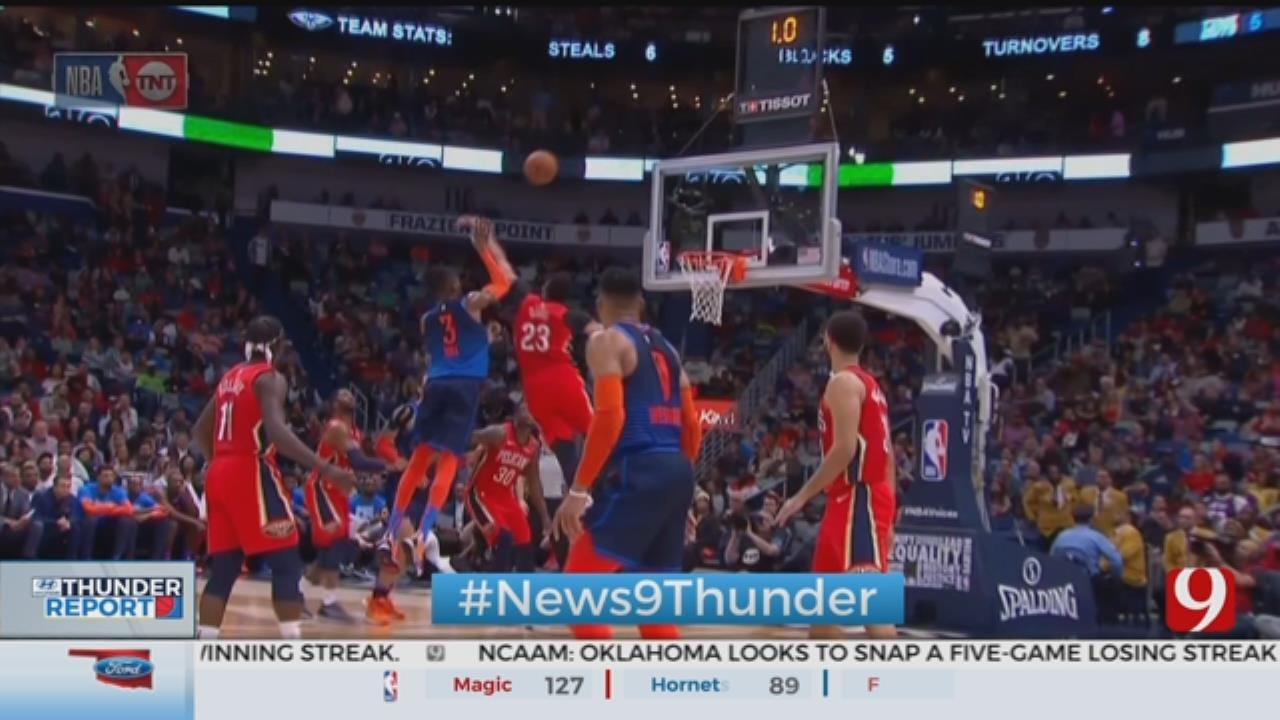 Pelicans Beat Thunder 131-122