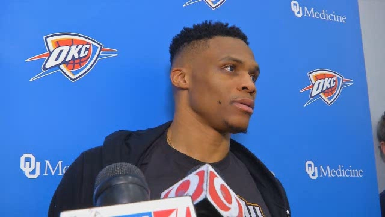 WATCH: Russell Westbrook Doesn't Pay Attention To The Criticism