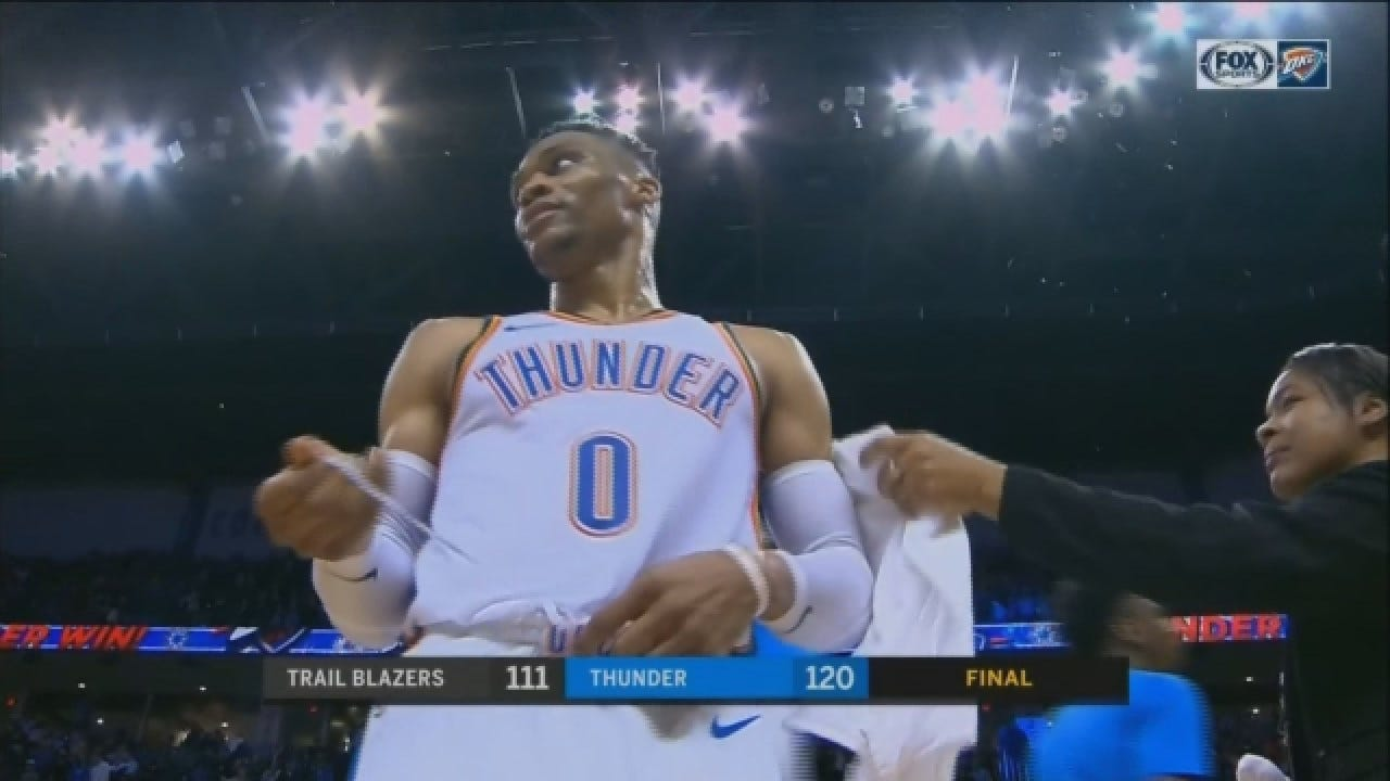 WATCH: The Moment Russell Westbrook Passes Wilt Chamberlain Triple-Double Record