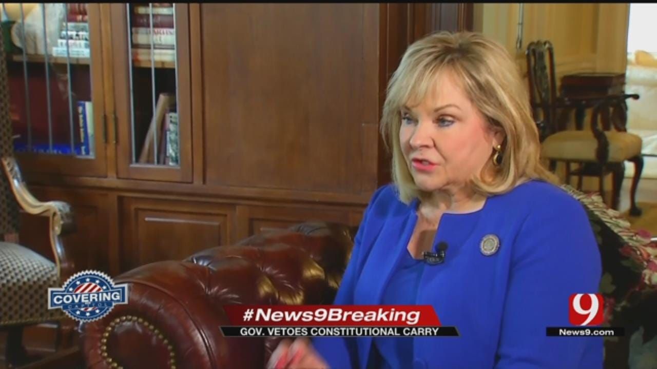 Gov. Mary Fallin Vetoes Constitutional Carry Bill
