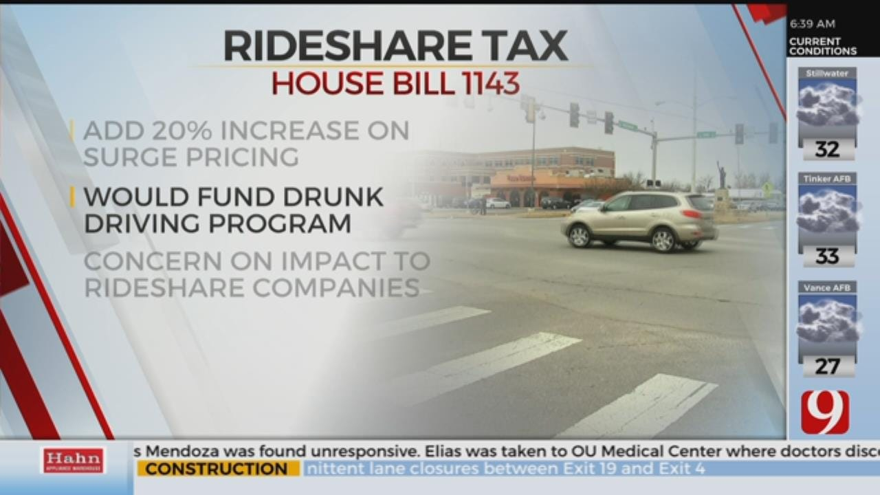 Bill Adds Fee To Ride Share Surge Price To Fund DUI Prevention