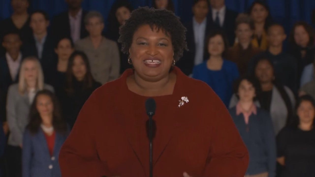 Stacey Abrams Advocates For Voting Rights In Response To State Of The Union