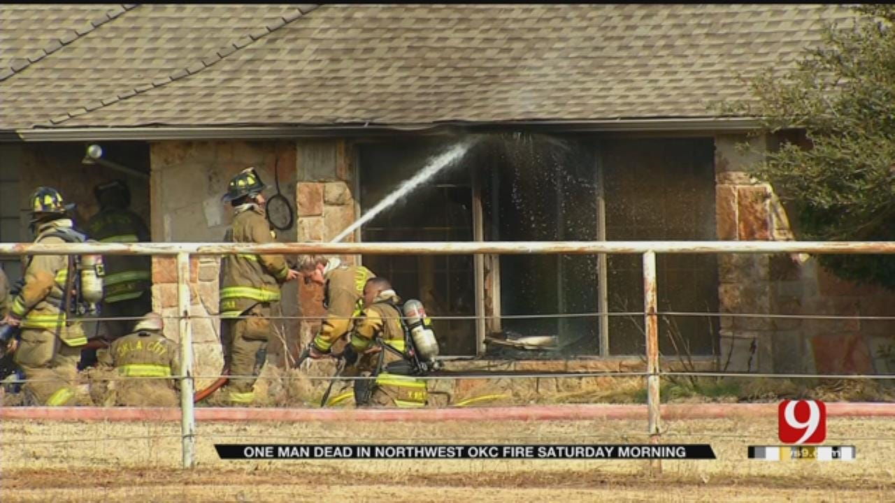Firefighters Say 1 Dead In Northwest OKC House Fire