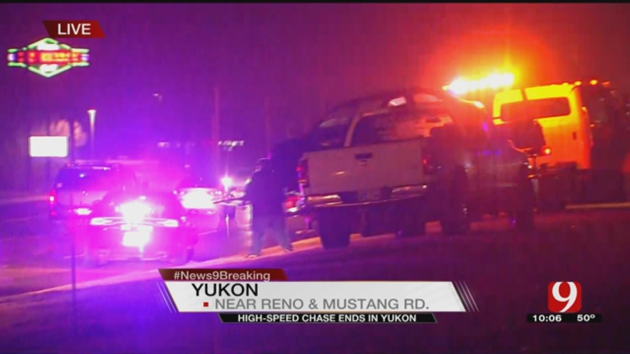 Suspect In Custody After High-Speed Chase Ends In Yukon