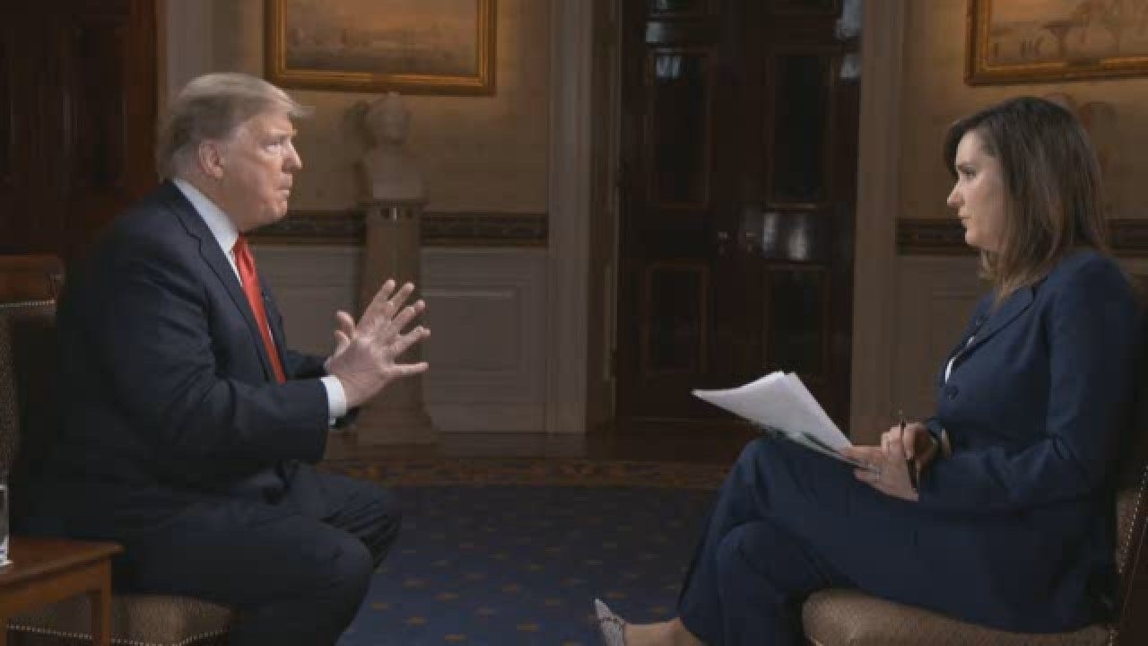 Pelosi Is 'Very Bad For Our Country,' Trump Says In Exclusive CBS News Interview