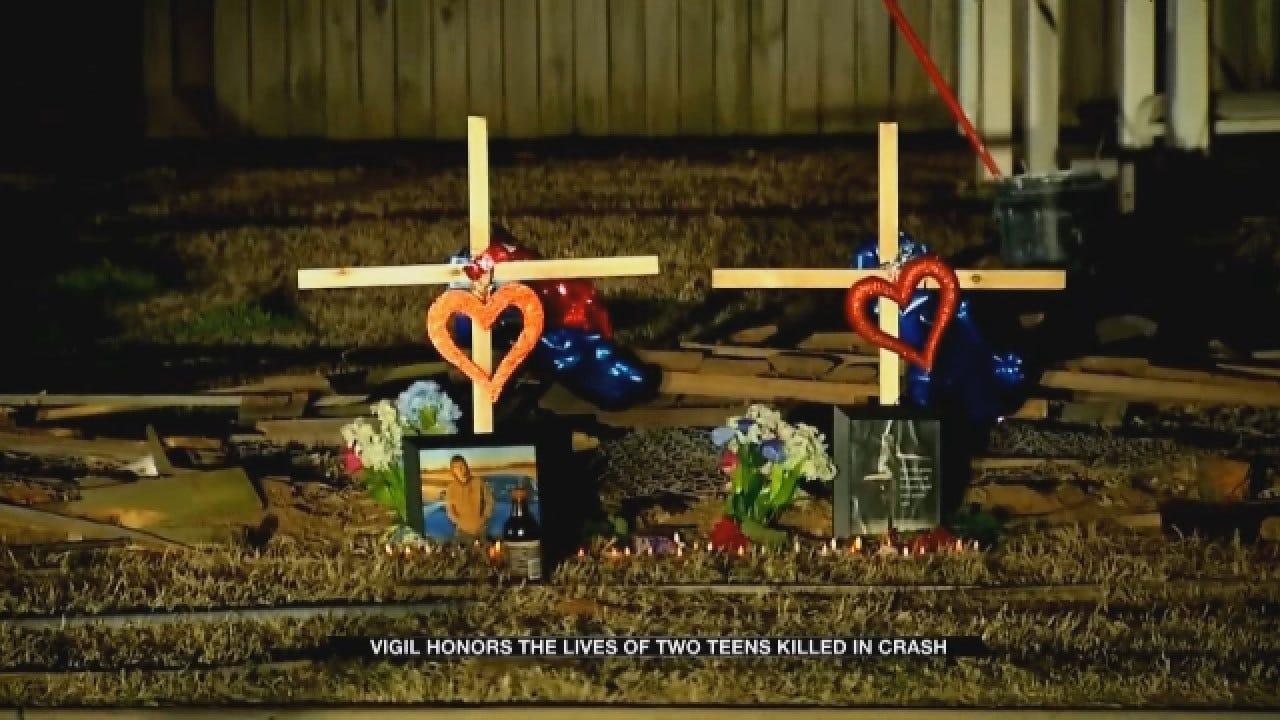 Community Holds Vigil For 2 Tecumseh Teens Killed In Crash