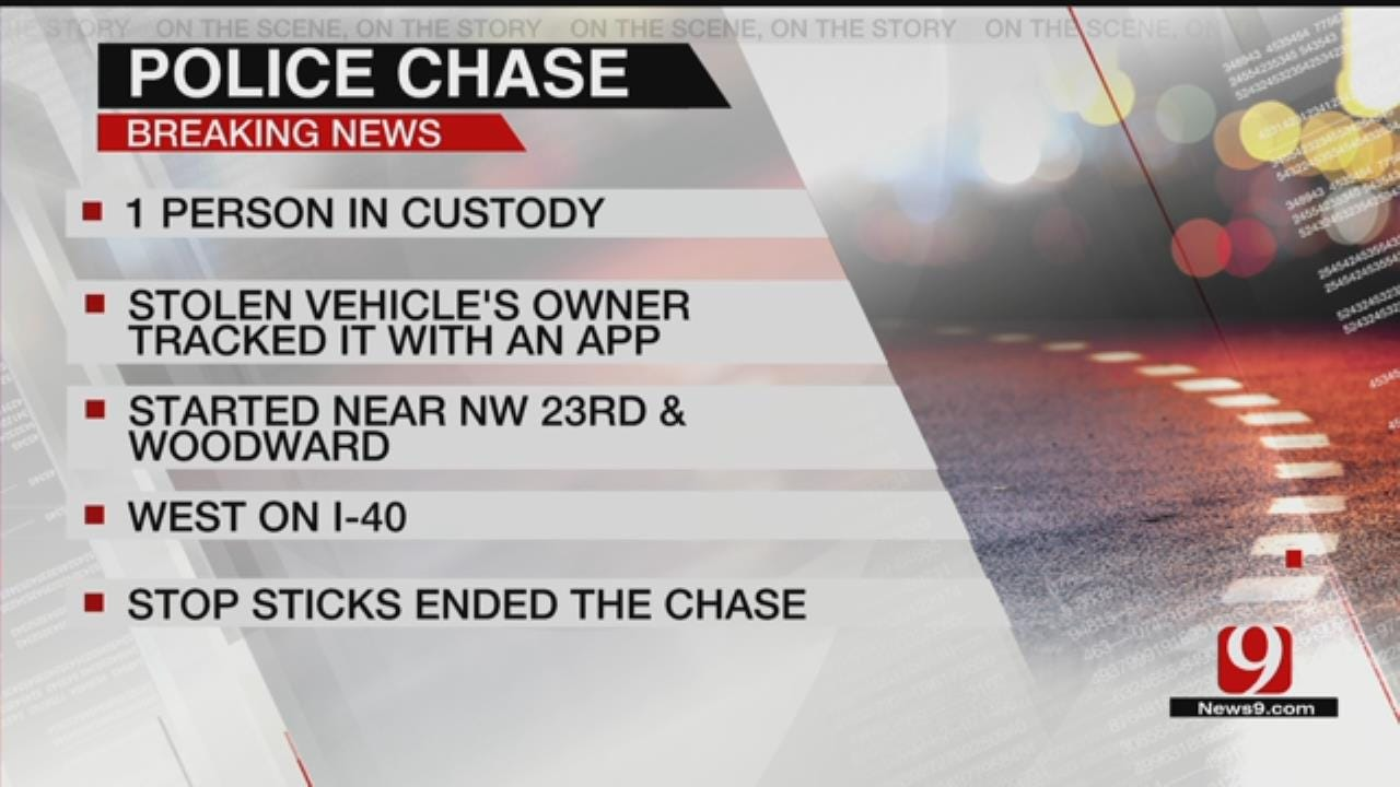 1 In Custody After Leading OKC Officers On A Chase