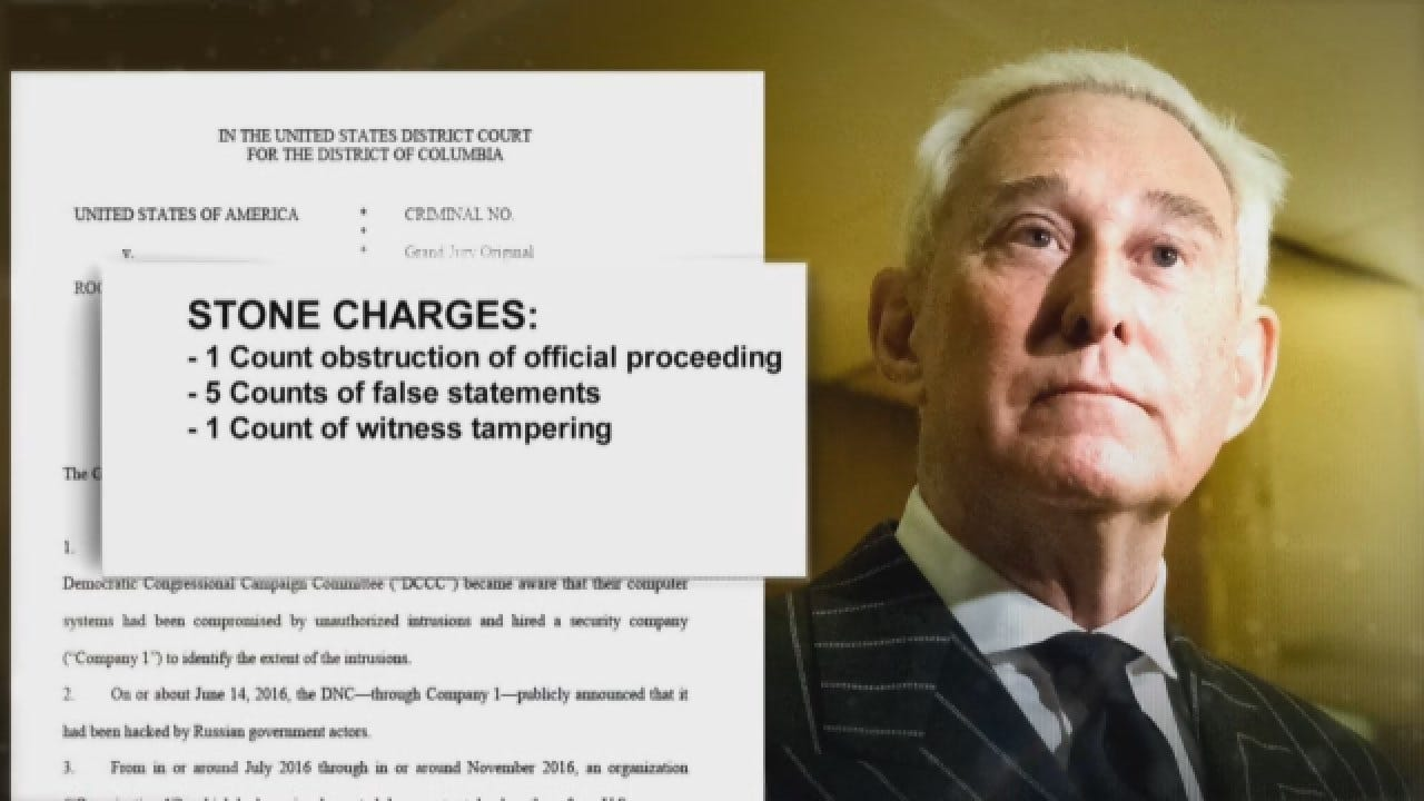 Trump Ally Roger Stone Indicted In Mueller Probe