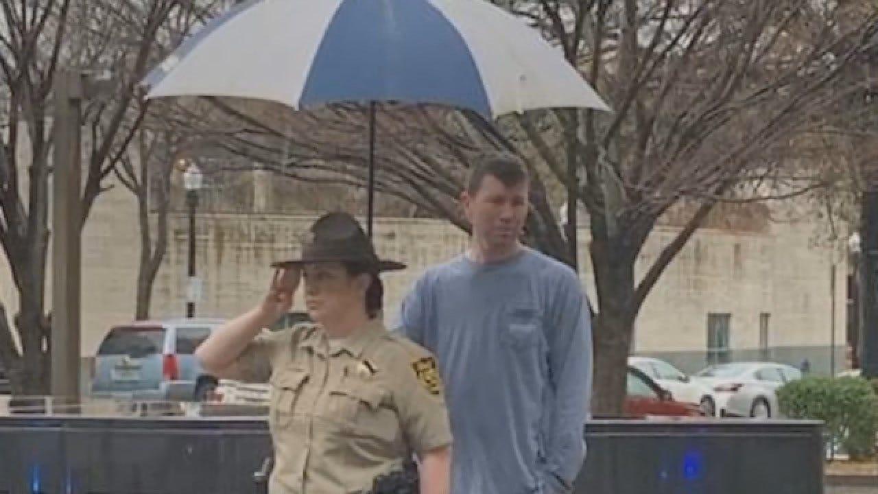 Stranger Holds Umbrella For Deputy Saluting Fallen Officer In The Rain