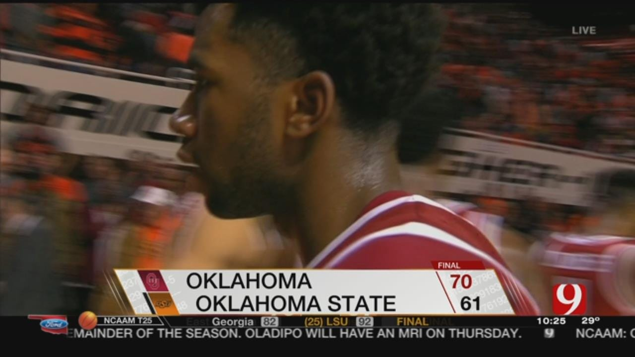 Bieniemy Scores 17, Leads Oklahoma Past Oklahoma State 70-61