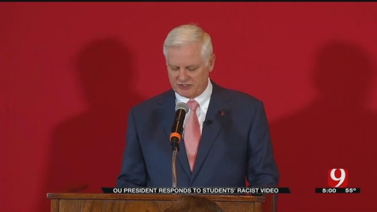 OU President Says University Has 'Much More To Do' To Combat Racism On Campus