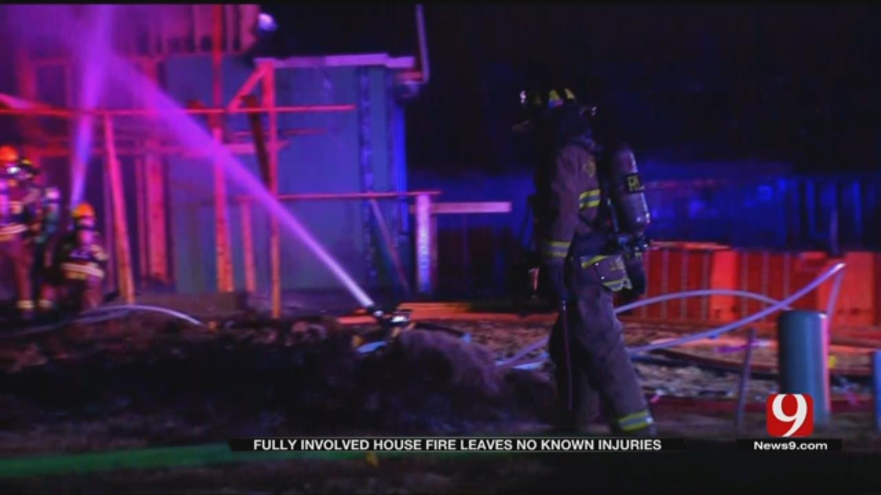 OKC Firefighters Responds To House Fire In Nichols Hills