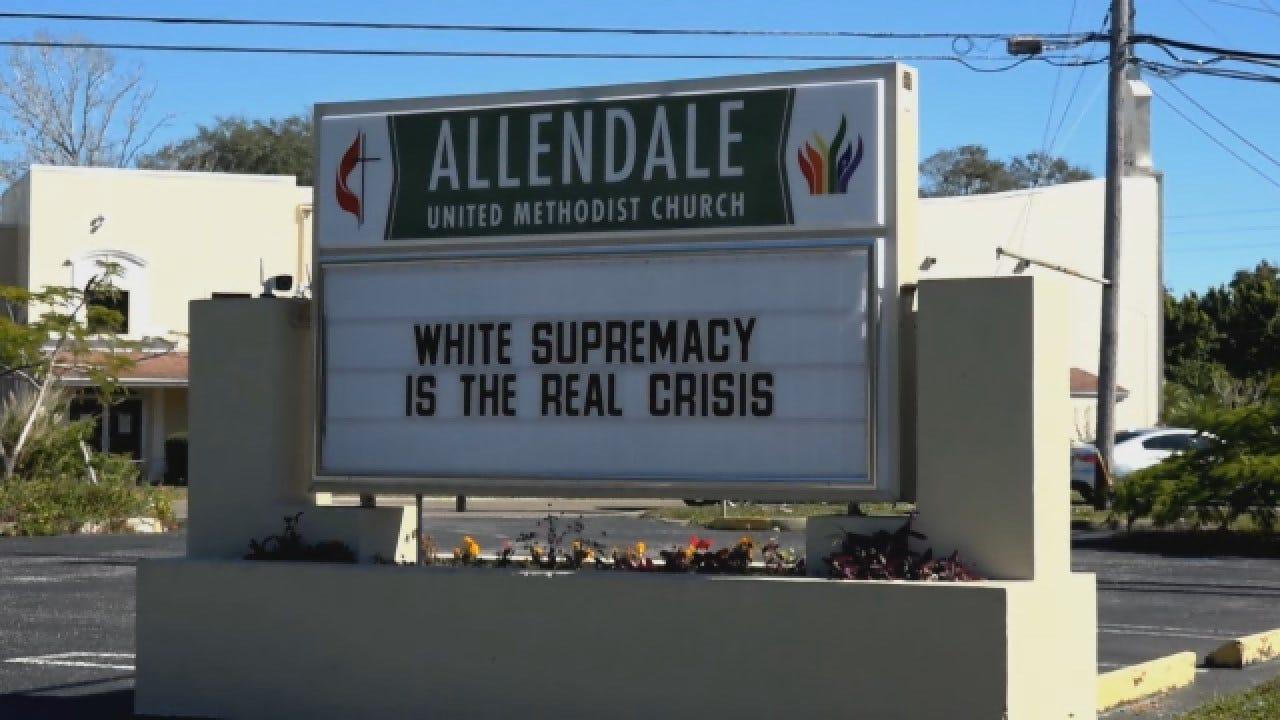 Church Sign Sparks Debate