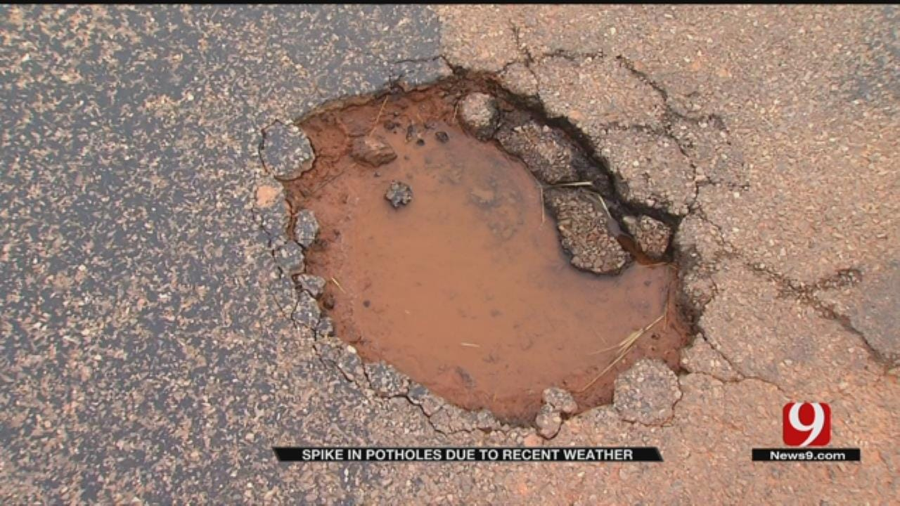 OKC Sees Spike In Potholes Due To Recent Weather