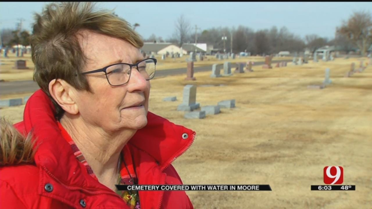 Woman Says 'City Needs To Do A Heck Of A Lot Better' After Moore Cemetery Floods