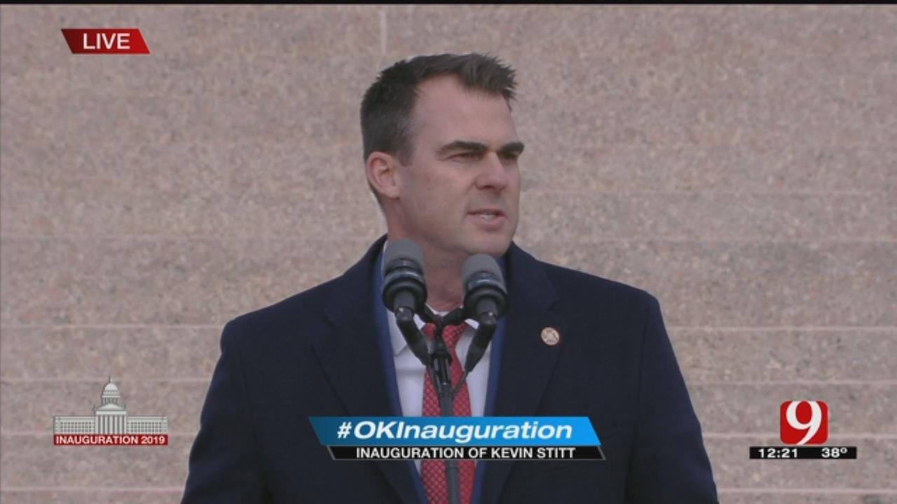 WATCH: Gov. Stitt's Full Inauguration Speech
