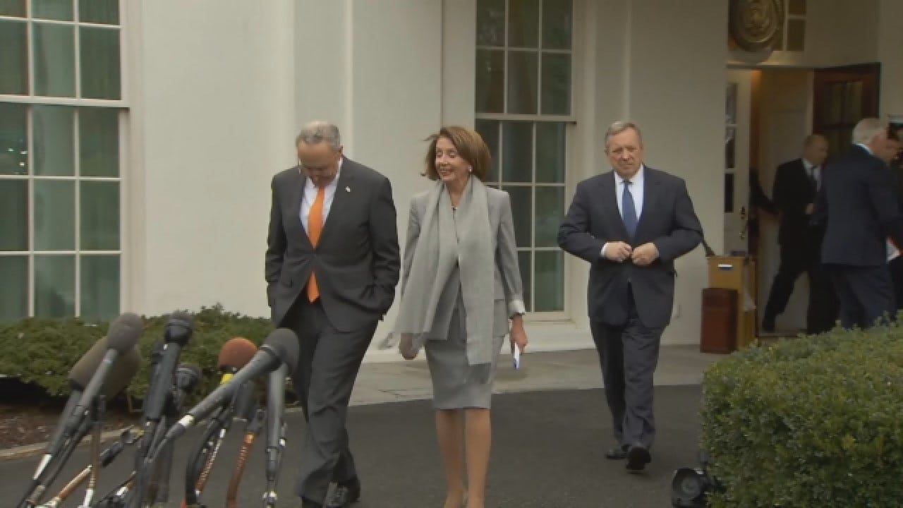 Democrats Respond After Trump 'Walks Out' Of Meeting