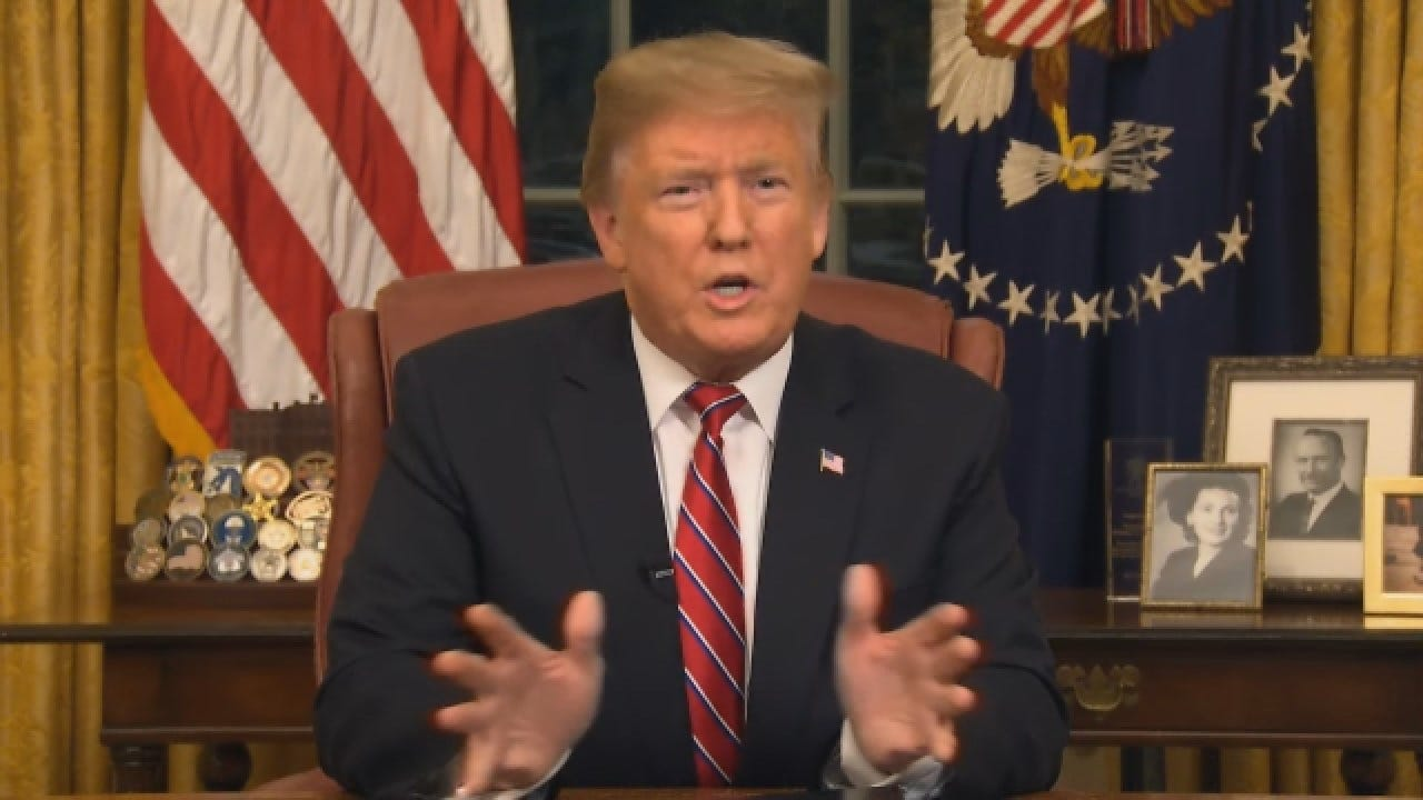 President Trump: There Is A Growing Humanitarian And Security Crisis At Border
