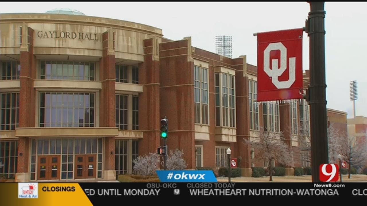 University Of Oklahoma Closes Doors Thursday Due To Winter Weather