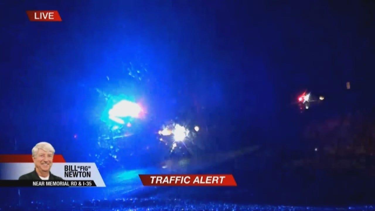 WATCH: Crews Respond To Single Car Accident In Edmond