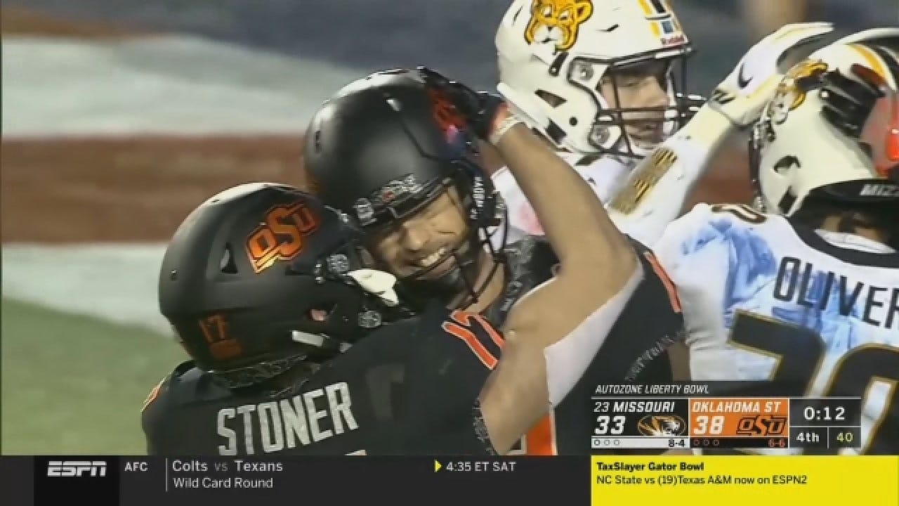 Oklahoma State Holds On To Win Liberty Bowl, 38-33