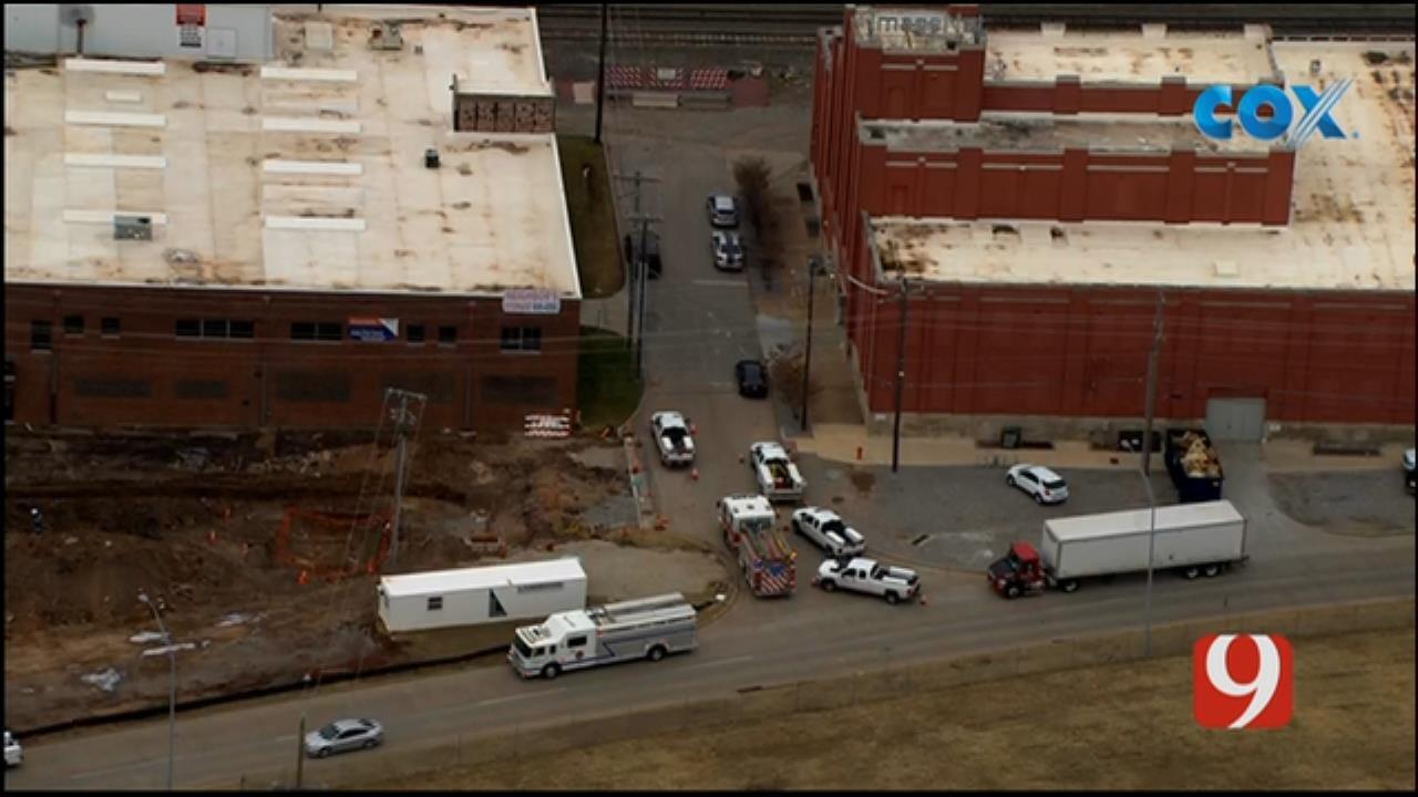 Bob Mills SkyNews 9 Flies Over A Gas Leak In NE OKC