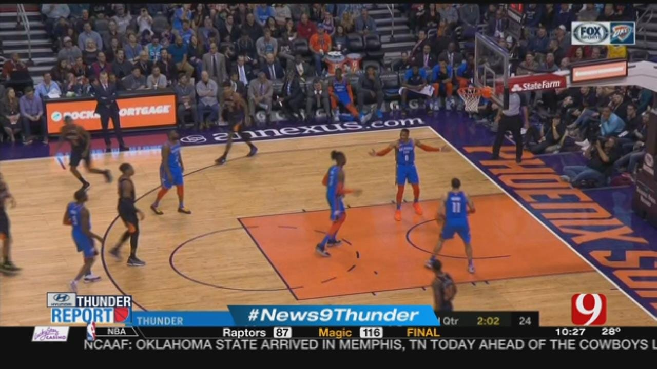 Thunder Report: Thunder Defeat The Suns 118 To 102