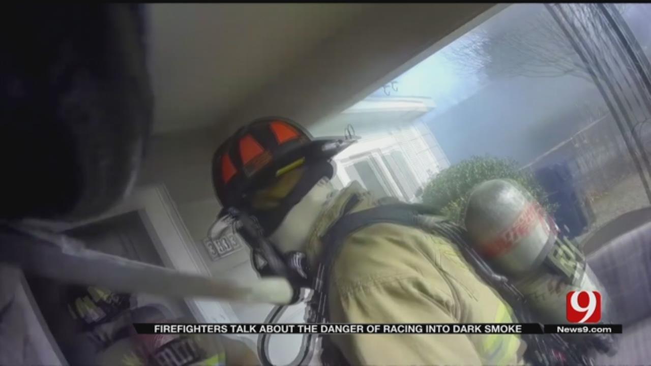 OKC Firefighter Helmet Cam Video Shows Dangers Of Racing Into Dark Smoke