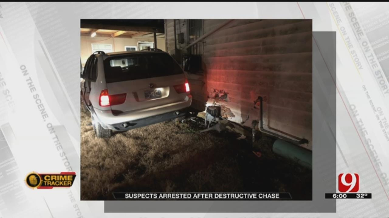 Family Evacuated After Suspects Crash Car Into SW OKC Home