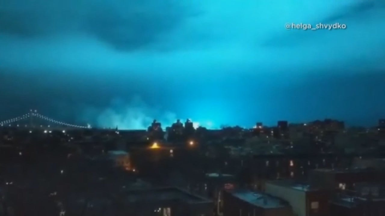 Transformer Explosion At NYC Power Plant Lights Up Night Sky