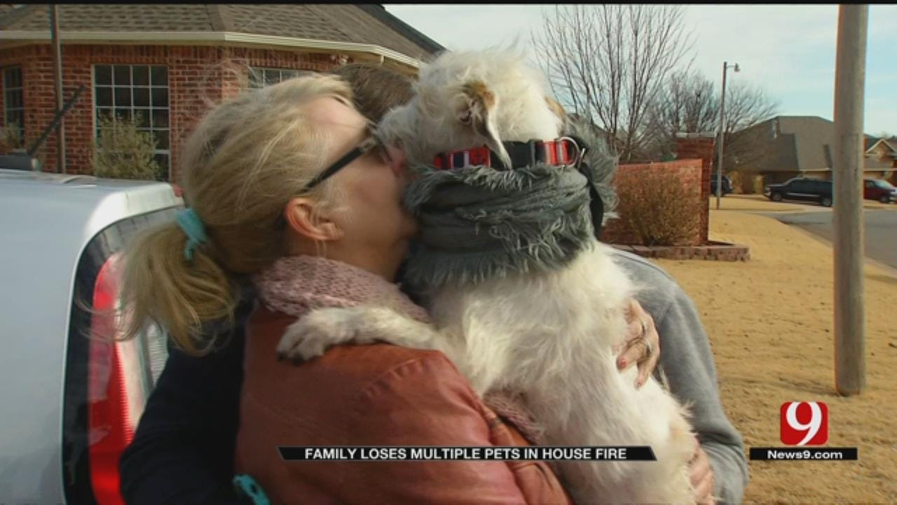 OKC Family Reunited With Pet That Escaped Devastating House Fire