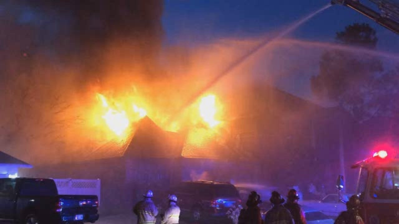 WATCH: News 9 Viewer Captures Video Of NW OKC House Fire