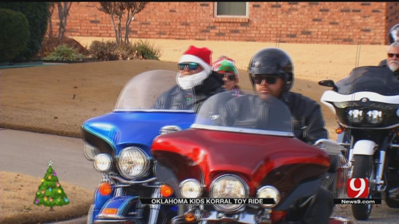 Hundreds Of Bikers Deliver Toys To Oklahoma Kids Battling Cancer
