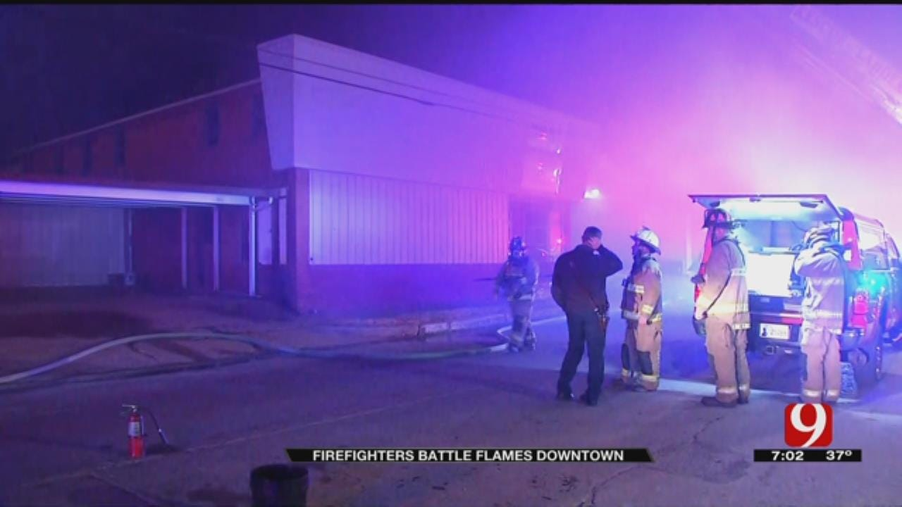 Commercial Fire Does Nearly $275,000 In Damage In Downtown OKC