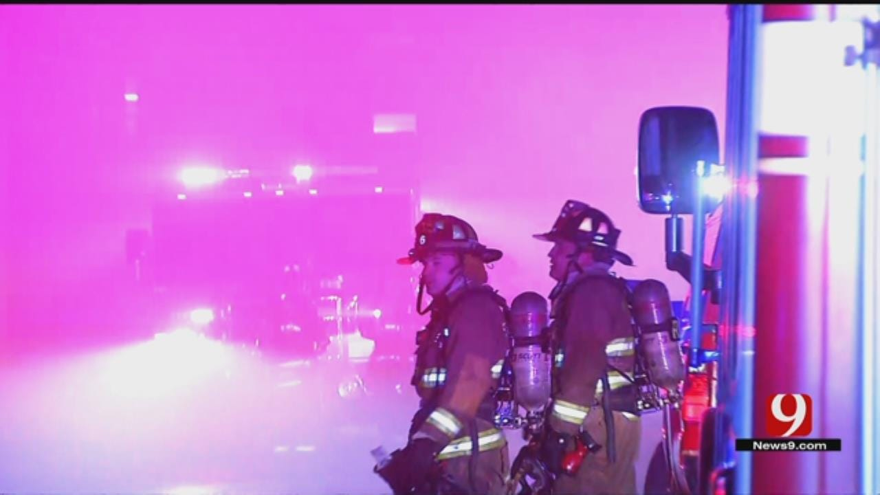 Firefighters Battling Commercial Fire In Downtown OKC