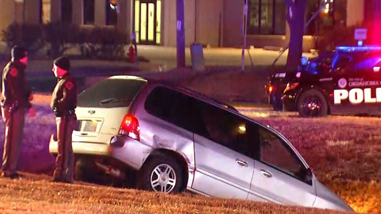 Suspect Crashes Stolen Vehicle On West Side Of OKC