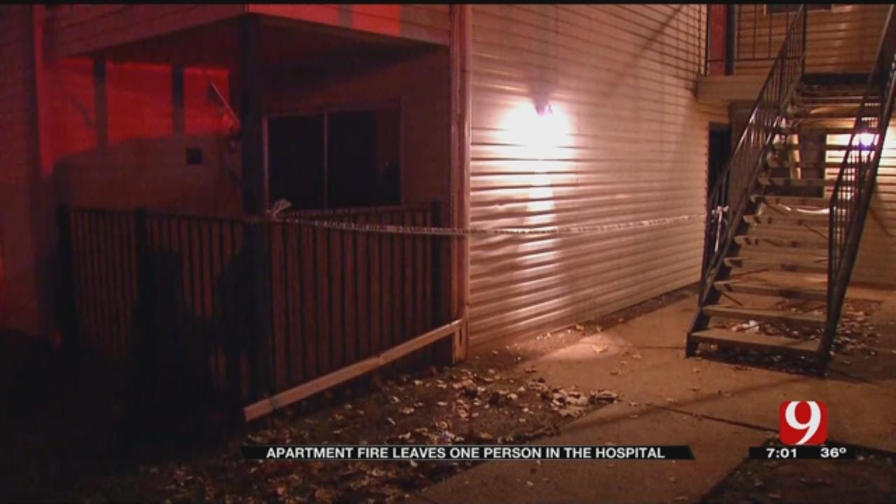 Man Taken To Hospital After OKC Apartment Fire